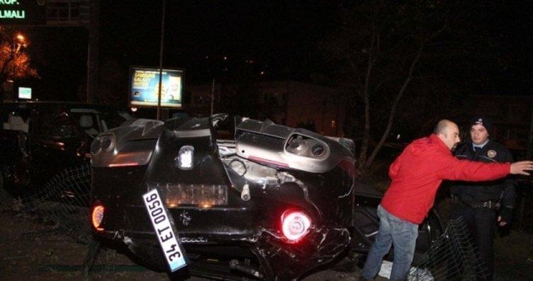 Burak Yılmaz'ın karıştığı iddia edilen kazadan...