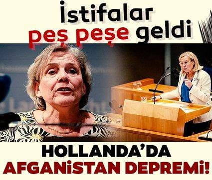 Hollanda parlamentosunda Afganistan depremi: Peş peşe istifalar geldi