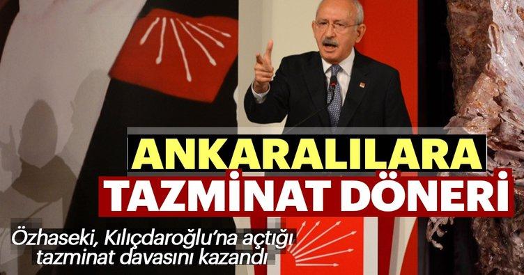 Özhaseki Kılıçdaroğlu'ndan aldığı tazminatla Ankaralılara döner dağıtacak