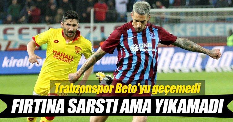 Trabzonspor - Göztepe karşılaşmasında kazanan yok