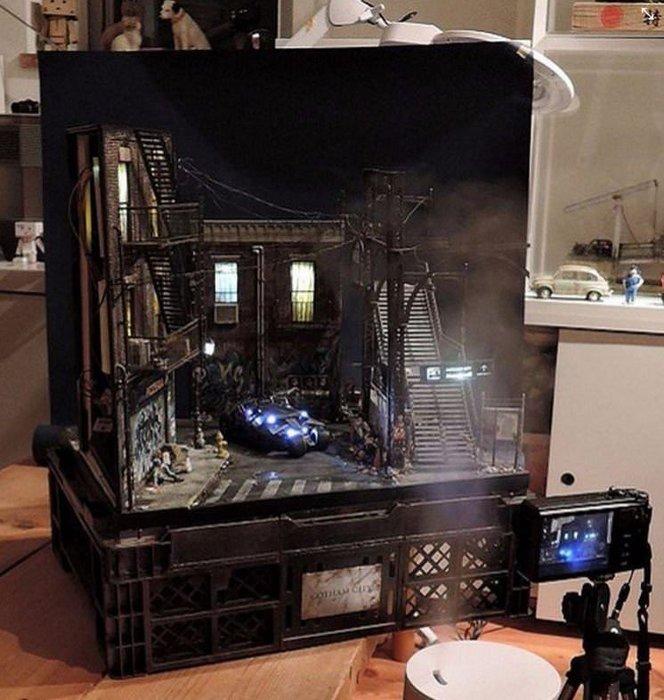 En gerçekçi diorama fotoğrafları