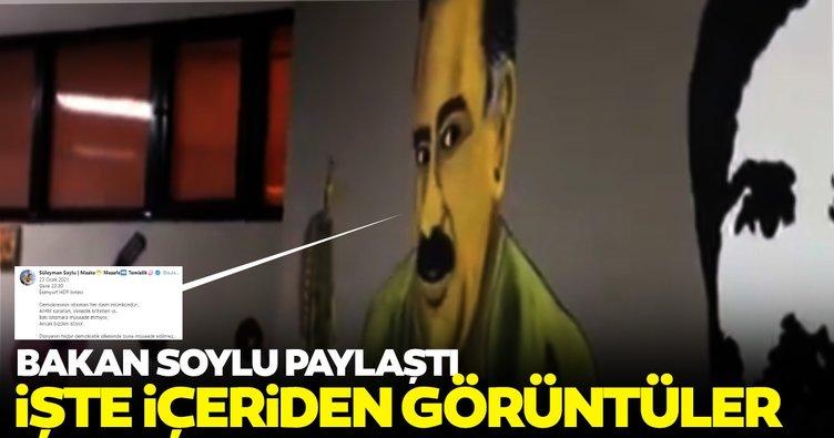 Son dakika: Bakan Soylu, HDP binasına düzenlenen operasyonun görüntülerini paylaştı