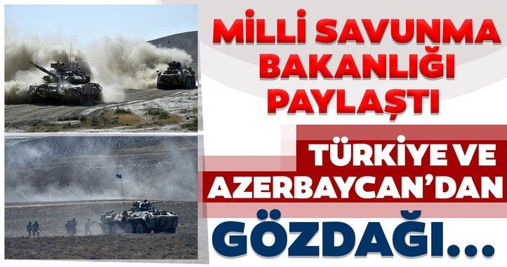Milli Savunma Bakanlığı paylaştı! Türkiye ve Azerbaycan'dan nefes kesen tatbikat...