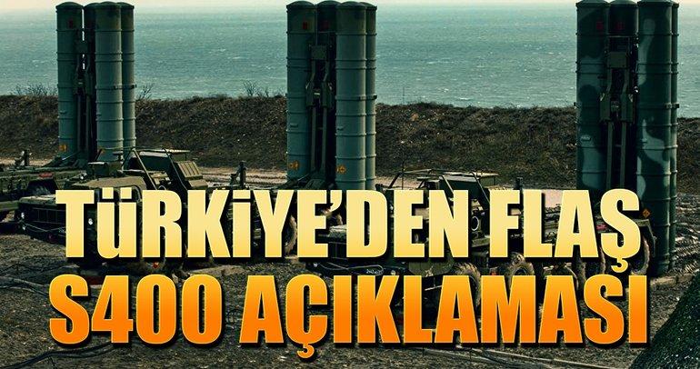 Türkiye'den S-400 ambargosu iddialarına yanıt geldi