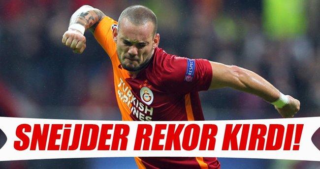 Sneijder rekor kırdı!