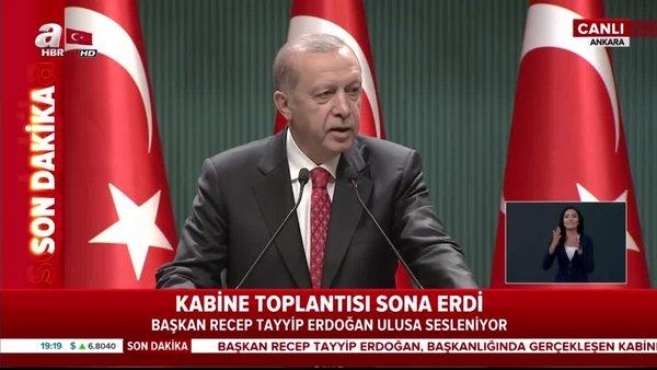 Başkan Erdoğan yeni normalleşme planını açıkladı! İşte alınan kararlar | Video
