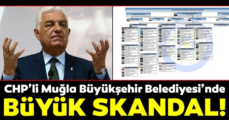 CHP'li Muğla Büyükşehir Belediyesi'nde büyük skandal!