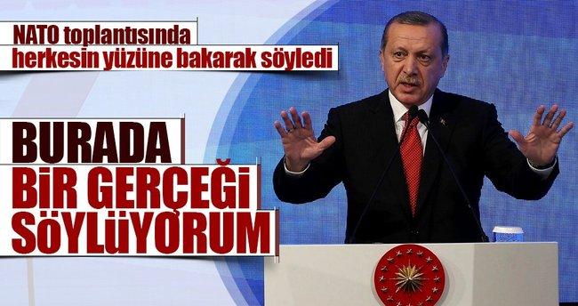 Cumhurbaşkanı Erdoğan: Buradan bir gerçeği söylüyorum, ilgili ülkeler gücenmesin