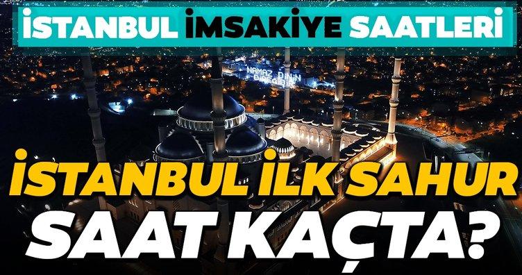 Bugün İstanbul'da ilk sahur kaçta? Diyanet İSTANBUL İMSAKİYE saatlerini açıkladı; Ramazanın ilk sahur ve iftarı saat kaçta?