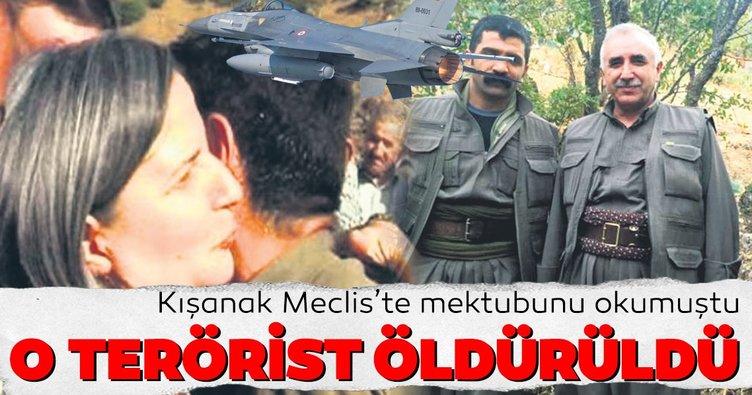 Gültan Kışanak'ın Meclis'te mektubunu okuduğu o terörist öldürüldü