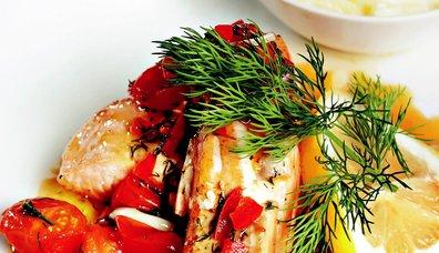 Kremalı Patates Eşliğinde Somon Fileto