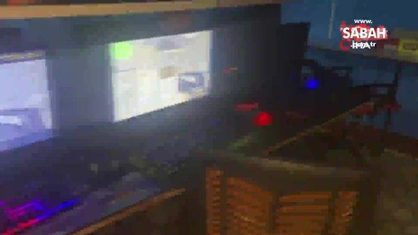 "İnternet kafede ""Counter-Strike"" maçına polis baskını | Video"