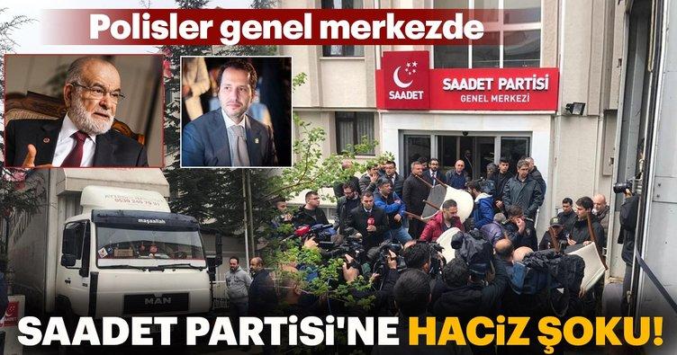 Fatih Erbakan haciz gönderdi, Saadet Partililer polisle tartıştı