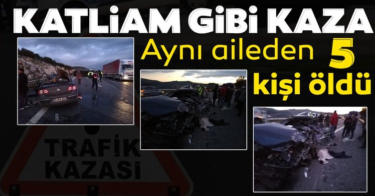 SON DAKİKA HABERİ! Pozantı-Ankara otoyolunda feci kaza! Aynı ailden 5 kişi hayatını kaybetti