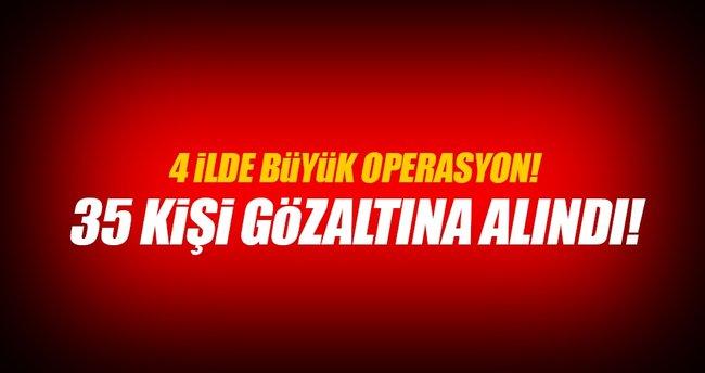 4 ilde FETÖ operasyonu: 38 gözaltı