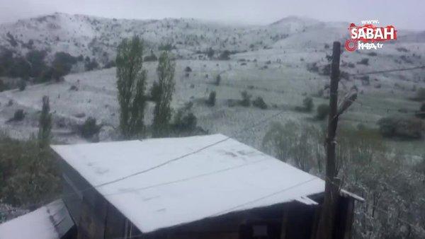 Son dakika: Sivas'ta Mayıs ayında kar yağışı! Şehirden şaşırtan kar manzaraları...   Video