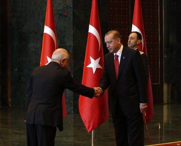 Yeni Cumhurbaşkanlığı Sarayı'nda ilk kabul
