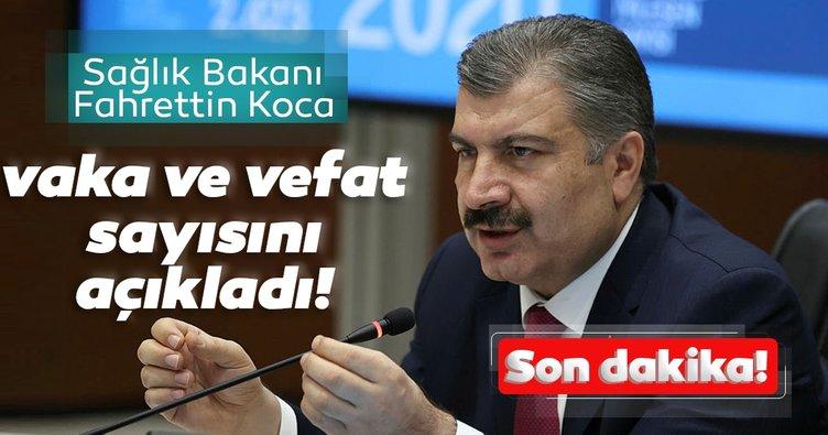 Son Dakika Haberi. Bakan Koca Türkiye'deki coronavirüs vaka ve vefat sayısını açıkladı
