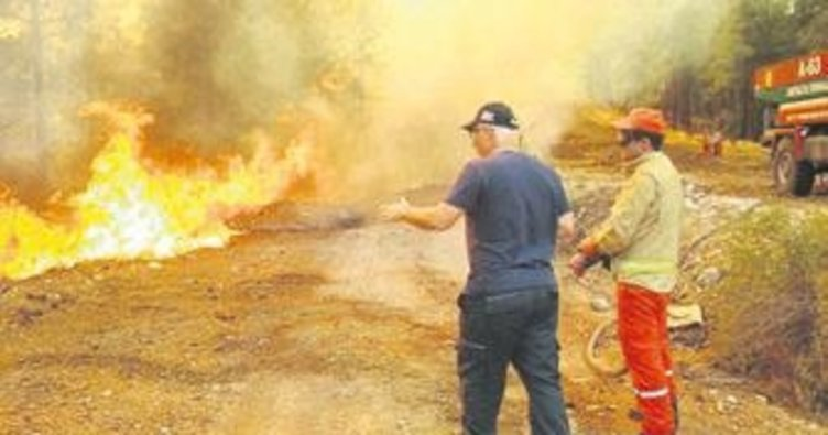 Kaş'ta şüpheli yangın
