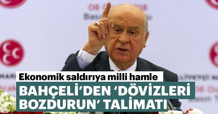 MHP Lideri Bahçeli'den partililere TL talimatı