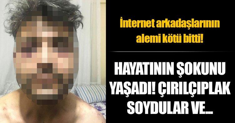 Sosyal medyada tanıştığı kişiler çırılçıplak soyup, otomobilini gasp etti