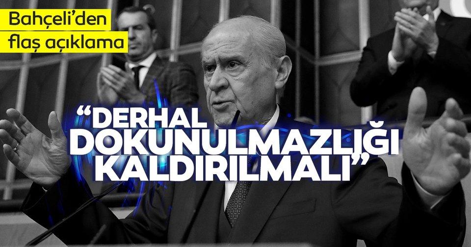 MHP lideri Bahçeli'den son dakika açıklaması: Yeneceğiz