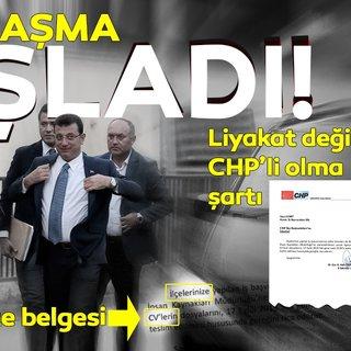 CHP'nin İBB'de kadrolaşma belgesi!