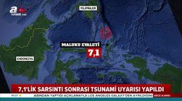 Endonezya'da  7,1 büyüklüğündeki depremin ardından tsunami uyarısı yapıldı