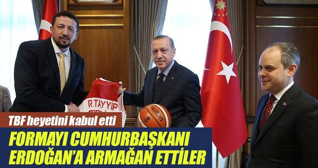 Cumhurbaşkanı Erdoğan TBF heyetini kabul etti