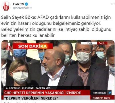 CHP'li Selin Sayek Böke'nin 'çadır' iddiasına İçişleri ve AFAD'dan cevap! - Son Dakika Haberler