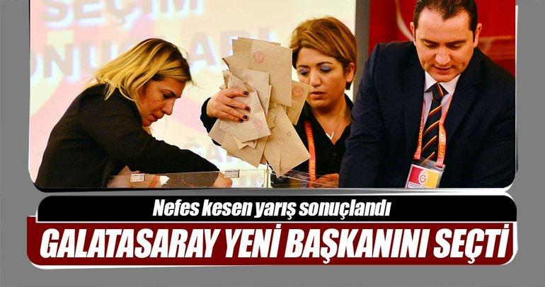 Galatasaray'da yeni başkan belli oldu!