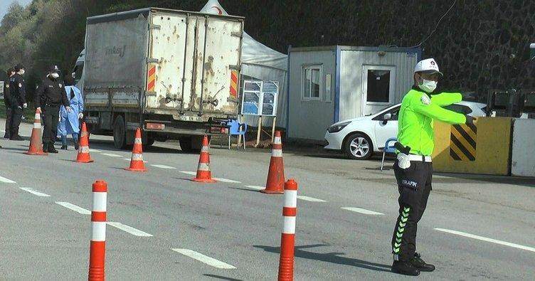 Trabzon-Giresun arasındaki kontrol noktasında uygulamalar devam ediyor