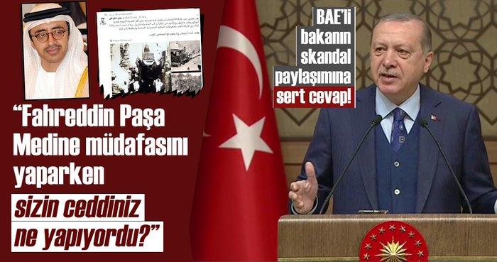 Son dakika: Cumhurbaşkanı Erdoğan'dan BAE'li bakana çok sert tepki!