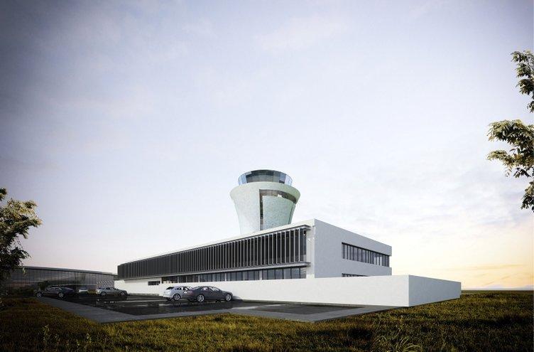 Rize-Artvin Havalimanı'nın yüzde 68'i tamamlandı; kulesi 'çay bardağı' figürü olacak