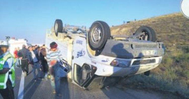 Suriyeli işçiler kaza yaptı