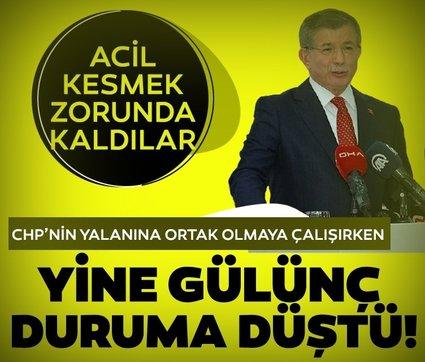 Davutoğlu, CHP'nin algı operasyonuna destek vermek isterken komik duruma düştü