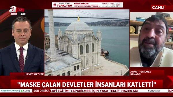 Ünlü Sanatçı Ahmet Yenilmez'den canlı yayında 'Evde kal' çağrısına destek açıklaması | Video
