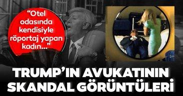 Son Dakika… Trump'ın avukatının uygunsuz görüntüleri tartışmaya neden oldu! Kendisiyle röportaj yapan kadın gazeteci…