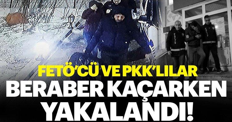 PKK ve FETÖ üyeleri birlikte kaçarken yakalandılar!