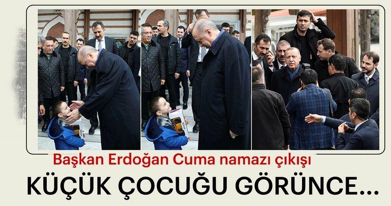 Başkan Erdoğan'dan küçük çocuğa hediye