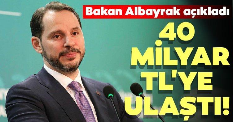 Bakan Albayrak'tan flaş açıklama! 40 milyar TL'ye ulaştı
