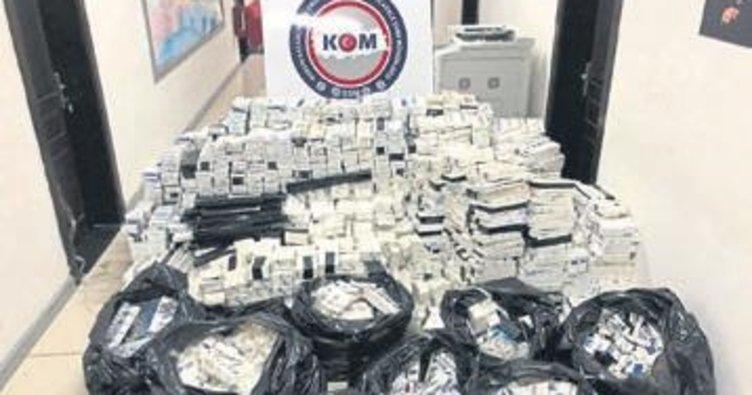21 bin 700 paket kaçak sigara ele geçirildi