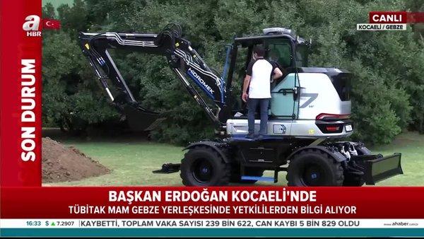 Son dakika haberi   Başkan Erdoğan canlı yayında test etti! Tamamen yerli ve milli...   Video