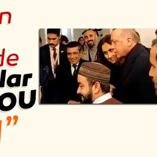 Erdoğan'ın ABD'deki cami ziyaretinde renkli anlar! I love you man