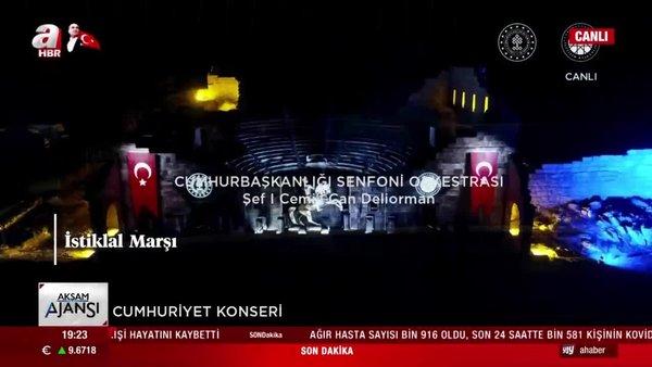 Cumhurbaşkanlığı Senfoni Orkestrası'ndan muhteşem konser | Video