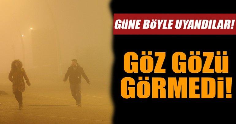 Başkent Ankara'da yoğun sis