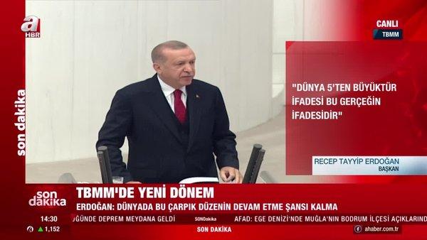Cumhurbaşkanı Erdoğan: Azeri kardeşlerimiz kendi göbeklerini kesmenin adımını attılar | Video