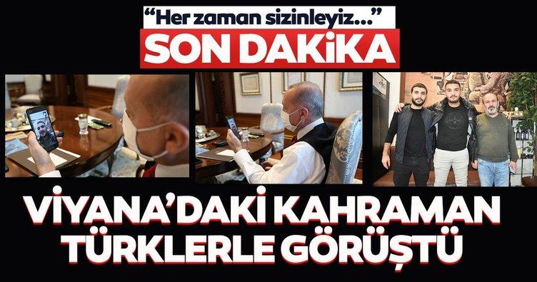 Başkan Erdoğan, Viyana'da yaralıların yardımına koşan 2 Türk ile görüştü