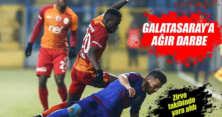 Galatasaray'a Kardemir Karabükspor çelmesi