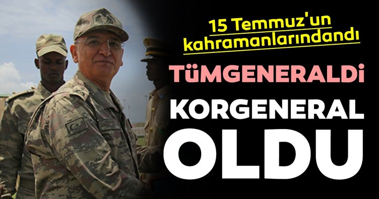 15 Temmuz'un kahramanlarından Tümgeneral İrfan Özsert korgeneralliğe yükseldi